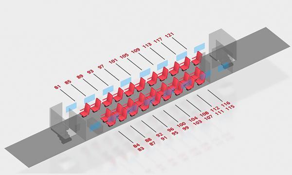 Схема вагона 1 класса 2 этаж