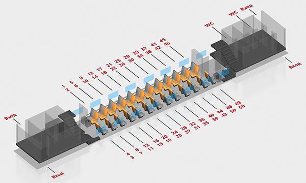 Схема двухэтажного поезда